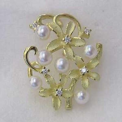 パール ブローチ パールブローチ 真珠 ブローチ フォーマルラペルピン メンズ 男性用 真珠  あこや本真珠 K18 ゴールド ピンブローチ タ