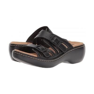 Clarks クラークス レディース 女性用 シューズ 靴 サンダル Delana Liri - Black Leather