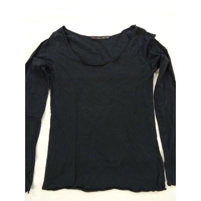 pellicule Tシャツ ロンT レディース トップス 黒 無地 長袖 Mサイズ 古着 USED 可愛い