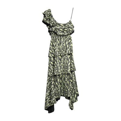 MANGANO 7分丈ワンピース・ドレス ライトイエロー 38 ポリエステル 100% 7分丈ワンピース・ドレス