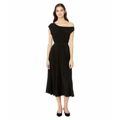 カマリカルチャー レディース ワンピース トップス Drop Shoulder Flared Dress to Midcalf Black