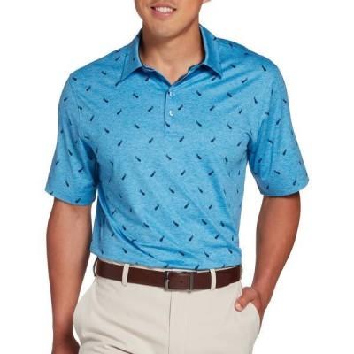 ウォルターヘーゲン メンズ シャツ トップス Walter Hagen Men's Perfect 11 Golf Bag Print Golf Polo