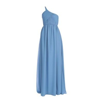 ランバン LANVIN ロングワンピース&ドレス スカイブルー 38 シルク 100% ロングワンピース&ドレス