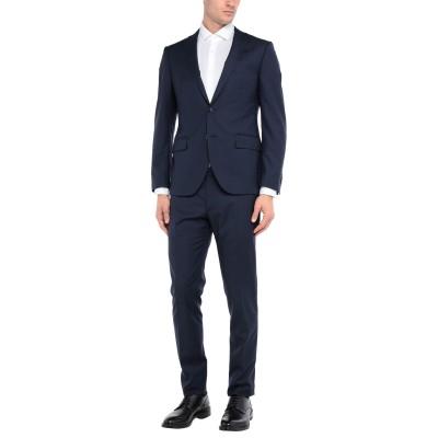 GUABELLO スーツ ブルー 52 スーパー130 ウール 100% / アセテート / レーヨン スーツ