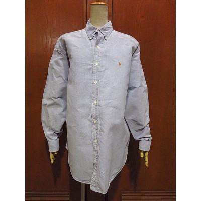 ビンテージ90's●Ralph Laurenオックスフォードボタンダウンドレスシャツsize L●210110f5-m-lssh-drs古着ラルフローレン長袖BDシャツ