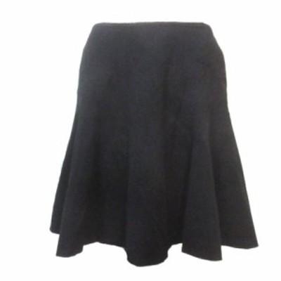 【中古】ダイアンフォンファステンバーグ DIANE von FURSTENBERG スカート ひざ丈 フレア 黒 ブラック 6 Mサイズ相当 X レディース
