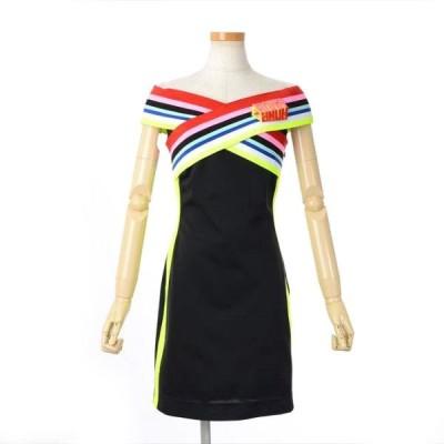 フェンディ ローマ アモール マルチカラーストライプ ジャージードレス ワンピース サイズ38 価格見直しました ブランドピース