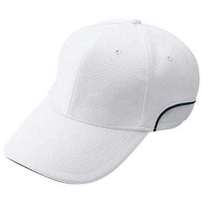 ベンチレーション六方型 (01ホワイト×ネイビーパイピング(サンド:ネイビー))  MIZUNO ミズノ 野球 ウエア 帽子 (12JW6b0401)