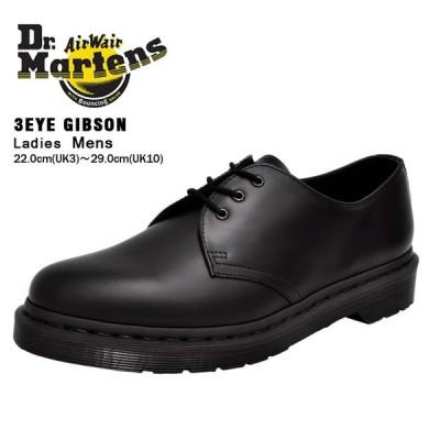 ドクターマーチン ブーツ メンズ レディース 1461 3アイ ギブソン モノ ブラック フォーマル 通勤 レザー Dr.Martens 3EYE GIBSON MONO BLACK 14345001