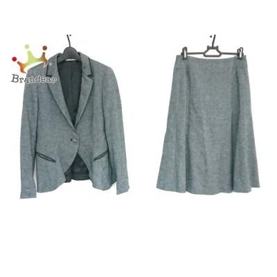 ヒロコビス HIROKO BIS スカートスーツ サイズ9 M レディース 美品 - ブルーグレー  値下げ 20201012