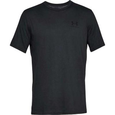 アンダーアーマー メンズ Tシャツ トップス Under Armour Men's Sportstyle Left Chest SS T-Shirt Black / Black