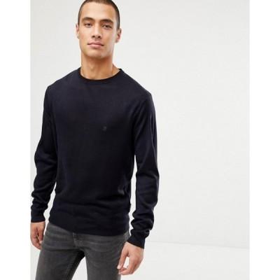フレンチコネクション メンズ ニット・セーター アウター French Connection Plain Logo Crew Neck Knit Sweater