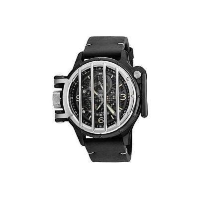 インヴィクタ 腕時計 Invicta 20257 メンズ ビンテージ ブラック レザー バンド スイス クォーツ アナログ 腕時計