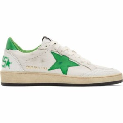 ゴールデン グース Golden Goose レディース スニーカー シューズ・靴 white and green ball star sneakers White/Golf green