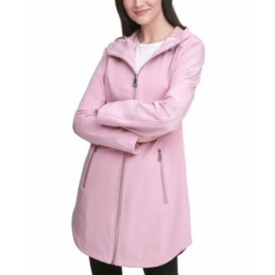 カルバンクライン レディース コート アウター Hooded Raincoat Pink Champagne