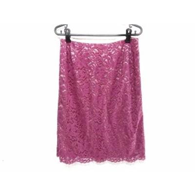 ローズティアラ Rose Tiara スカート サイズ42 L レディース - ピンク ひざ丈/レース【中古】20210226
