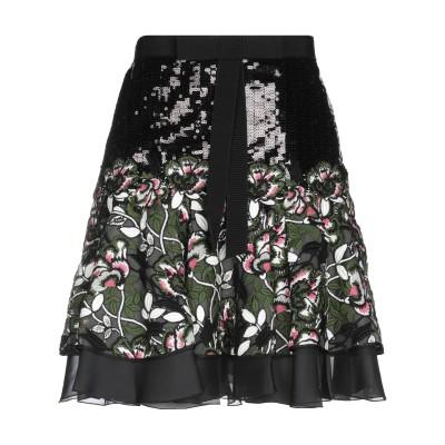 ジャンバティスタ ヴァリ GIAMBATTISTA VALLI ひざ丈スカート ブラック 40 ポリエステル 100% / コットン / ナイロン