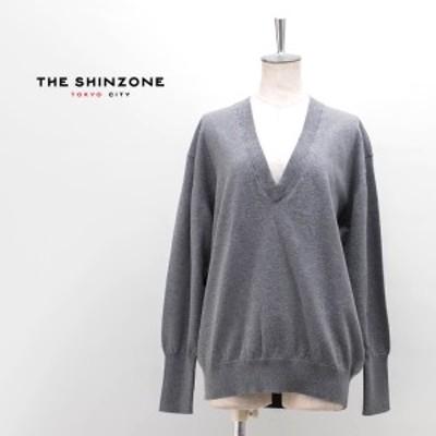 THE SHINZONE シンゾーン レディース コットン/カシミア Vネックニット[20SMSNI02]【2020SS】