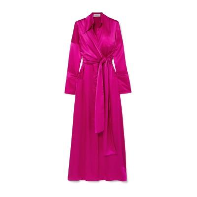 16ARLINGTON ロングワンピース&ドレス フューシャ 8 シルク 100% ロングワンピース&ドレス