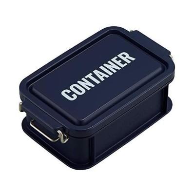 オーエスケー 弁当箱 ネイビー 容量:約450ml ランチチャイム コンテナ ランチボックス S CNT-450(ネイビー 容量:約450ml)