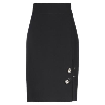 GIL SANTUCCI ひざ丈スカート ブラック 44 ポリエステル 92% / ポリウレタン 8% ひざ丈スカート