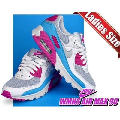 ナイキ ウィメンズ エアマックス 90 NIKE WMNS AIR MAX 90 football grey/football grey fire pink ct1030-001 レディース フットボールグレー ピンク ブルー