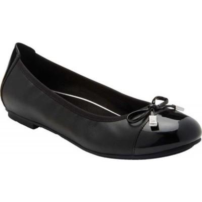 バイオニック Vionic レディース スリッポン・フラット バレエシューズ シューズ・靴 Minna Ballet Flat Black Black Leather