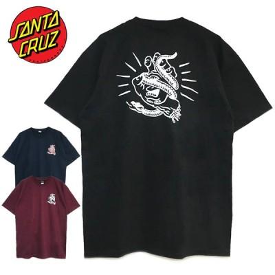 ゆうパケット送料無料 サンタクルーズ Tシャツ SANTA CRUZ トップス メンズ レディース 半袖 SNAKE BITE TEE スネーク バイト 蛇 スクリーミングハンド 20SS