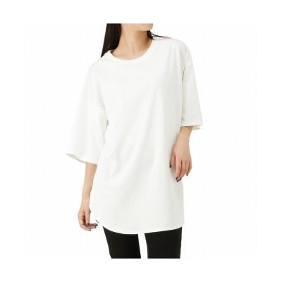 (MAC HOUSE(women)/マックハウス レディース)Lee リー エンブロイダリーTシャツ LT7025/レディース ホワイト
