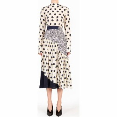 ステラ マッカートニー STELLA MCCARTNEY レディース ワンピース ワンピース・ドレス Tangerine Print Long Sleeve Silk Dress Gesso