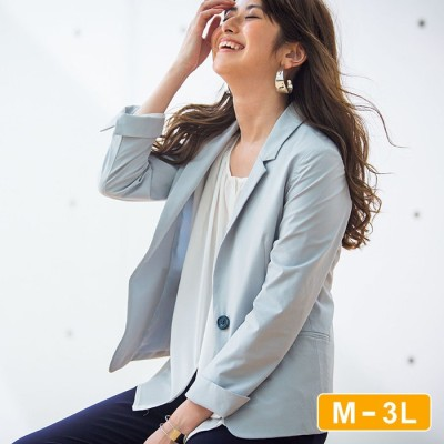 Ranan 【M~3L】花粉対策テーラードジャケット ブルー M レディース