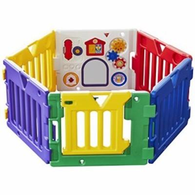 【CENTE】日本育児 ベビーサークル ミュージカルキッズランド DX 6ヶ月~3歳半対象 おもちゃパネル付のベビーサークル