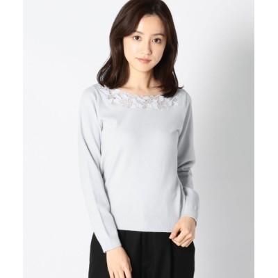 MISCH MASCH / カットワークフラワー刺繍ニット WOMEN トップス > ニット/セーター