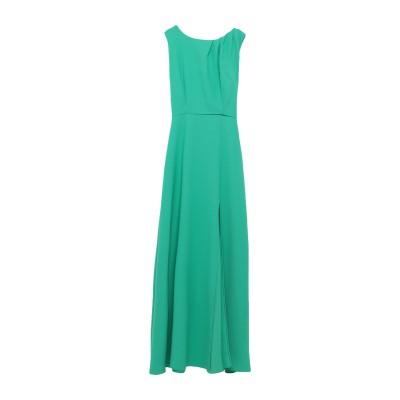 ALEX VIDAL ロングワンピース&ドレス グリーン 42 ポリエステル 97% / ポリウレタン 3% ロングワンピース&ドレス