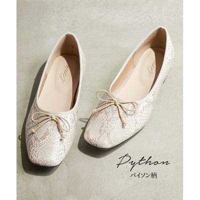 スクエアトゥバレエシューズ(低反発中敷) シューズ(フラットシューズ) Shoes