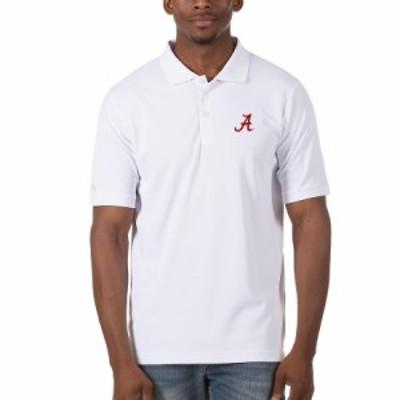 """メンズ ポロシャツ """"Alabama Crimson Tide"""" Antigua Legacy Pique Polo - White"""