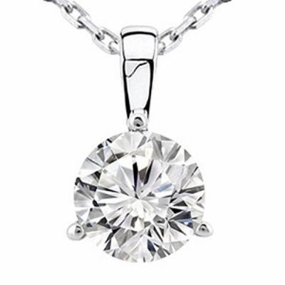 特別価格送料無料05カラット ラウンドダイヤモンド 3プロング ソリティアペンダント