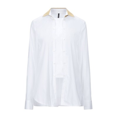 PIERANTONIO GASPARI シャツ ホワイト 40 コットン 77% / ナイロン 20% / ポリウレタン 3% シャツ