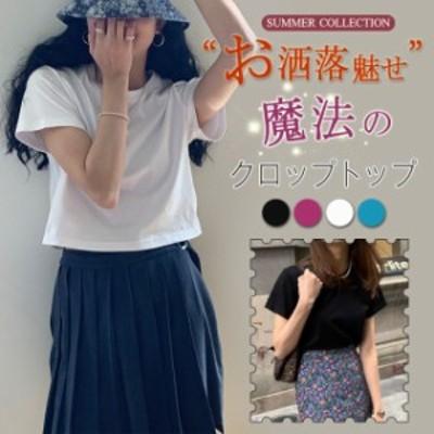 夏新作 ベーシック 韓国ファッション 無地 Tシャツ レデイース カジュアル 定番 落ち着く シンプル 着心地いい アウトドア お洒落
