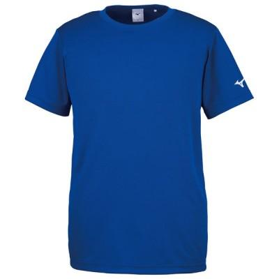 MIZUNO ミズノ Tシャツ (袖RBロゴ) トレーニングウエア トップス ユニセックス 半袖 吸汗速乾 サーフブルー 32JA8156