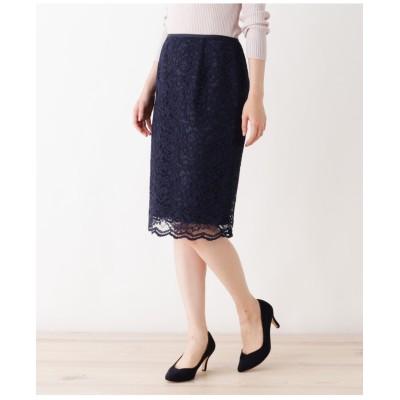 【洗える】レースタイトスカート