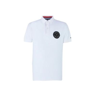 YOOX - トミーヒルフィガー TOMMY HILFIGER ポロシャツ ホワイト S コットン 100% ポロシャツ