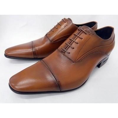 キャサリンハムネット 靴 メンズ ストレートチップ ビジネスシューズ 31642(ブラウン)