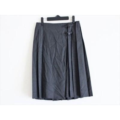 オールドイングランド OLD ENGLAND 巻きスカート サイズ36 S レディース ダークグレー×レッド【中古】20200620