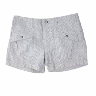 【中古】エンジニアードガーメンツ Engineered Garments ショートパンツ ヒッコリー ストライプ 白 青 ホワイト ブルー 1 S コットン X