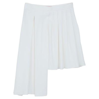 ドローム DROMe ミニスカート ホワイト M レーヨン 59% / アセテート 37% / ポリウレタン 4% ミニスカート