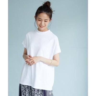 tシャツ Tシャツ モックネックフレンチスリーブプルオーバー *◇