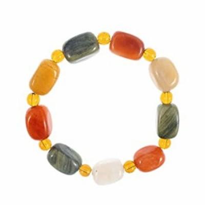 LPAU Natural Healing Crystal Chakra Stones Bracelet for Women Men, Meditation Crystal and Gemstones, Gobi Desert Agate Stone Bra