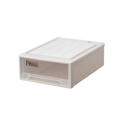 天馬 Fits フィッツケース クローゼット W390×D530×H180mm カプチーノ S−53CAP 1個