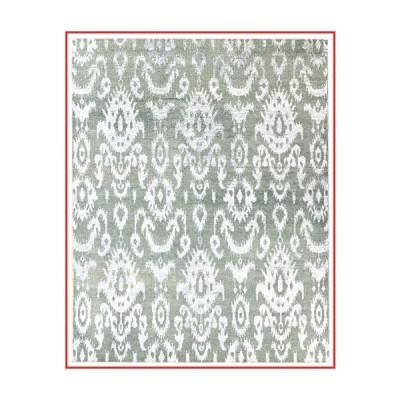 Landry & Arcari Elysia Collection J40444 Hand-Woven Seafoam & Silver Transitional Design Wool Area Rug 2 feet by 3 Feet (2x3)【並行輸入